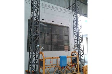 10 મીટર સંચાલિત એલ્યુમિનિયમ દોરડું પ્લેટફોર્મ zlp1000 સિંગલ તબક્કો 2 * 2.2 કિલો