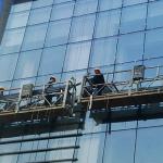 કાસ્ટ આયર્ન કાઉન્ટર વજન સાથે 2 વ્યક્તિ રોપ સસ્પેન્ડેડ પ્લેટફોર્મ zlp630