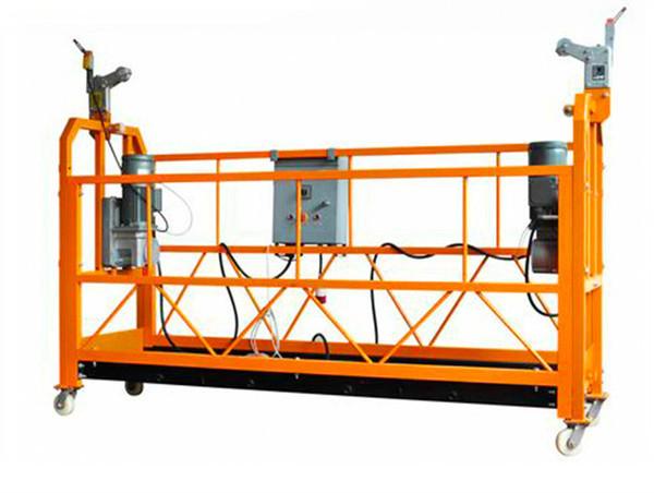 સીઇ પ્રમાણિત એલ્યુમિનિયમ સસ્પેન્ડેડ વર્કિંગ પ્લેટફોર્મ ઝેડપી 1000 મોટર પાવર 2.2 કેડબલ્યુ