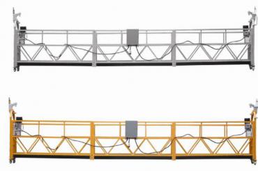 દિવાલ પેઇન્ટિંગ માટે 3 તબક્કા રોપ સસ્પેન્ડેડ પ્લેટફોર્મ ગરમ ગેલ્વેનાઈઝ્ડ 7.5 મીટર zlp800a
