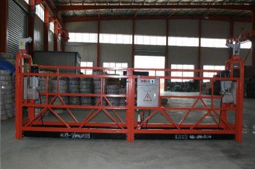 બાંધકામ અને જાળવણી માટે Zlp1000 8 - 10 મીટર / મિનિટ સલામત સસ્પેન્ડેડ વૉકિંગ પ્લેટફોર્મ
