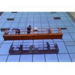 30kn સલામતી લૉક zlp1000 2.2kw 2.5m * 3 સાથે મજબૂત બાંધકામ રોપ સસ્પેન્ડ કરેલ પ્લેટફોર્મ